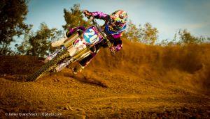 Pro women's Motocross Racer Jakcke Ives